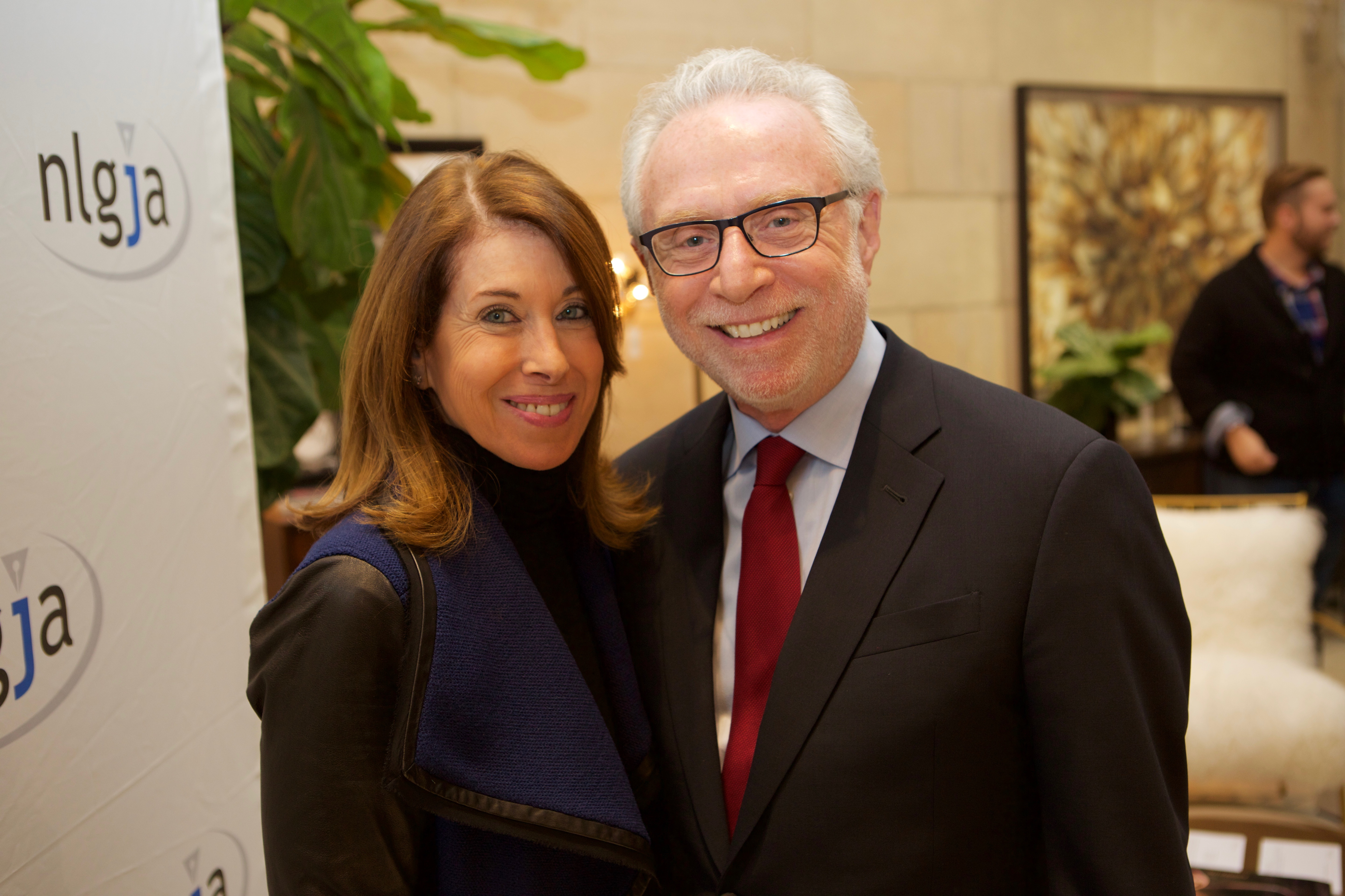 Lynn Greenfield and Wolf Blitzer