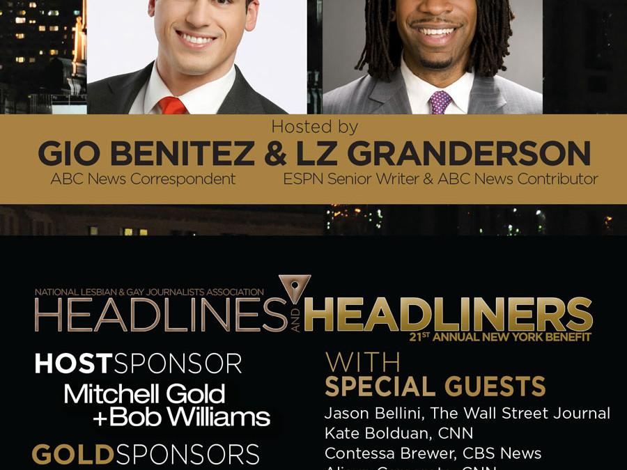 You'e Invited to the NLGJA New York Benefit: Headlines & Headliners